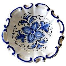 DiPinto Italy Shallow Bowl or Dish Wall Hanging Hand Painted