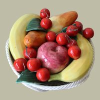 Vintage Bassano Fruit Basket Centerpiece Handarbeit Italy