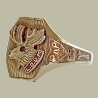 Ring Loyal Order of Moose LOOM PAP 10k Gold Vintage
