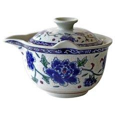 Asian Porcelain Teapot Individual Cup Size Tea Pot Vintage