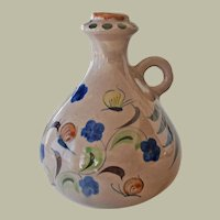 Vintage Pottery Jug with Butterflies Signed CAT Mexico