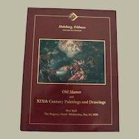 Art Auction Catalog Habsburg Feldman Old Master and XIXth Century Paintings 1990