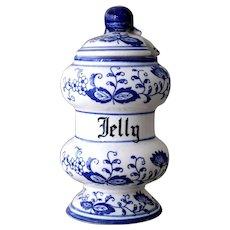 Vintage Blue Onion Jelly Jar