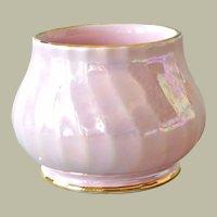 Porcelain Sugar Bowl Sadler Swirled Pink Luster