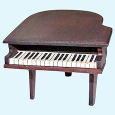 Dollhouse Grand Piano Wood Vintage