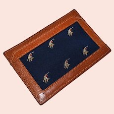 Vintage Ralph Lauren Polo Leather Billfold Notepad