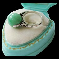 Art Deco Fine Quality Jade Spinner Ring