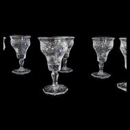 McKee Rock Crystal Cordial Depression Glasses - Lot of 6 - Mint