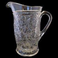 McKee Rock Crystal Tankard Pitcher - Depression Glass Pitcher