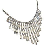 Fabulous 50s Rhinestone Runway Necklace