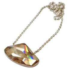 Gorgeous Sterling Asymmetrical Swarovski Crystal Necklace