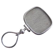Antique Sterling Silver Quizzing Glass or Monocle, Magnifier