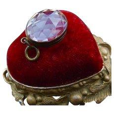 Antique Faceted Crystal Egg Memento Locket