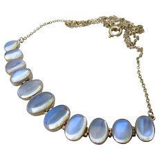 Antique 9CT Moonstone Necklace