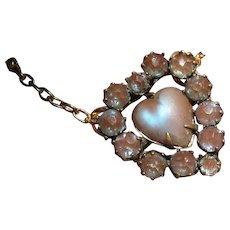Antique Saphiret Heart Conversion Necklace