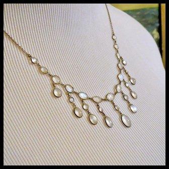 Antique Sterling Silver Festoon Necklace