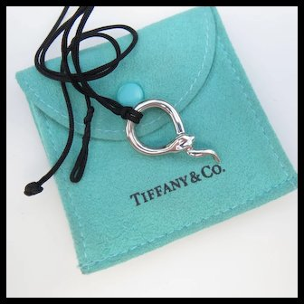 Tiffany & Co Elsa Peretti Snake Pendant Necklace