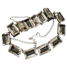 Gorgeous Japan Rock Crystal Necklace and Bracelet Circa 1940s
