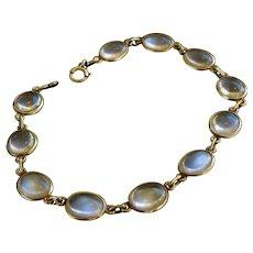 14k Gold Moonstone Bracelet