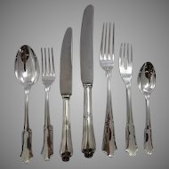 "Buccellati Sterling ""Savoy"" Heavy Dinner Flatware Set"