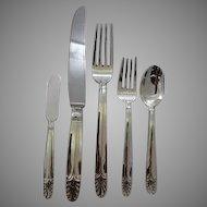 Art Deco Sterling Dinner Flatware set for 12 circa 1932