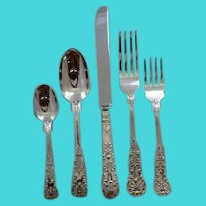 """Queens"" sterling pattern Heavy Dinner Set for 8"