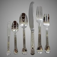 "French Sterling Dinner Set of 12 ""Versailles"""