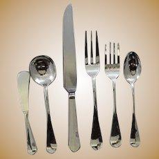 """Porter Blanchard """"Roosevelt"""" Arts & Crafts Handmade Flatware set for 12"""