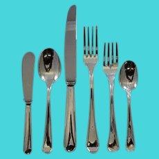 Italian Sterling Dinner set for 12 Plain Heavy