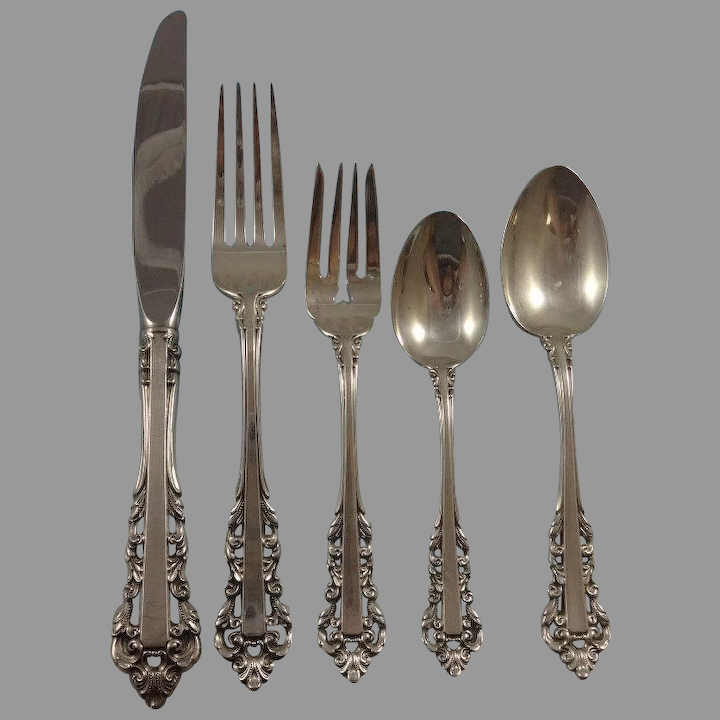 "6-3//4/"" s Medici New-Gorham Sterling Salad Fork"
