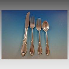 Rhapsody by International Sterling Silver Flatware Service For 12 Set 48 Pieces