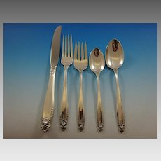Prelude by International Sterling Silver Flatware Service For 12 Set 60 Pieces