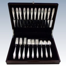 Prelude by International Sterling Silver Flatware Set for 12 Service 48 Pcs