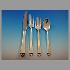 Reigning Beauty by Oneida Sterling Silver Flatware Set 12 Service 53 pieces
