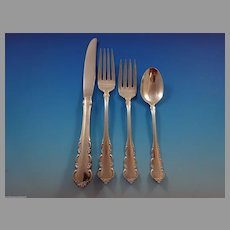Martinique by Oneida Sterling Silver Flatware Set For 12 Service 51 Pieces