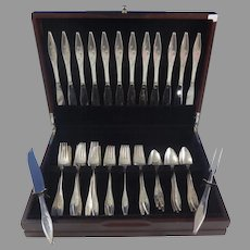 Star by Reed & Barton Sterling Silver Flatware Set Service 50 Pieces John Prip MID-CENTURY MODERN SERVICE FOR 12