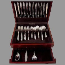 Eternal Rose by Alvin Sterling Silver Flatware Set Service 63 Pieces