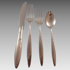 Helene by Easterling Sterling Silver Flatware Set 12 Service 59 Pieces