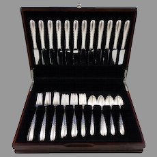 Silver Flutes by Towle Sterling Silver Flatware Set for 12 Service 48 Pcs