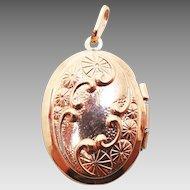 12 Karat Rose Gold Filled Oval Locket