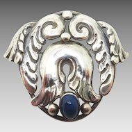 La Paglia Sterling Brooch with Genuine Natural Labradorite