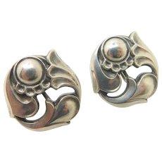 La Paglia Sterling Silver Floral Earrings #140