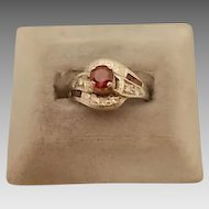 Gorgeous .66ct Ruby Ring with Diamonds