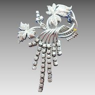 Gorgeous 18 Karat White Gold Diamond Pin 2 Carats