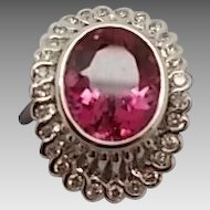 Fabulous 4ct Pink Tourmaline Ring