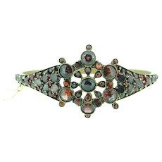 Genuine Natural Bohemian Garnet Bangle Bracelet