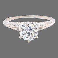 14k Antique .76ct Diamond Engagement Ring