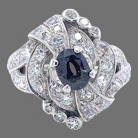 14k 1.38 carat Natural Alexandrite Ring GIA Report