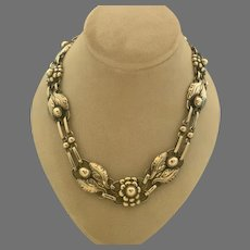 Georg Jensen #1 Flower Leaf 830 silver Necklace
