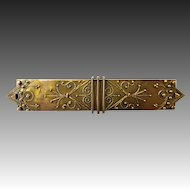 Antique 14k Etruscan Revival Bar Pin c1860
